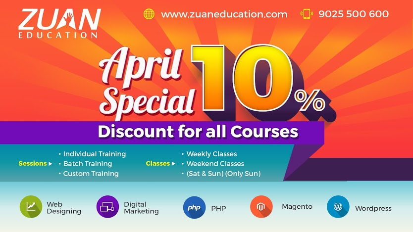 April Special: Get 10% Discount on All Courses
