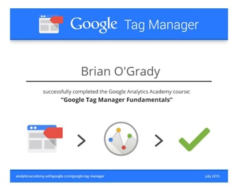 tag manager certification