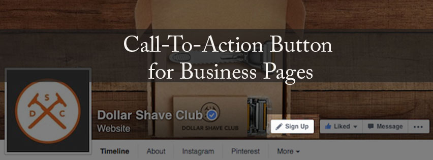 Call to action for facebook page