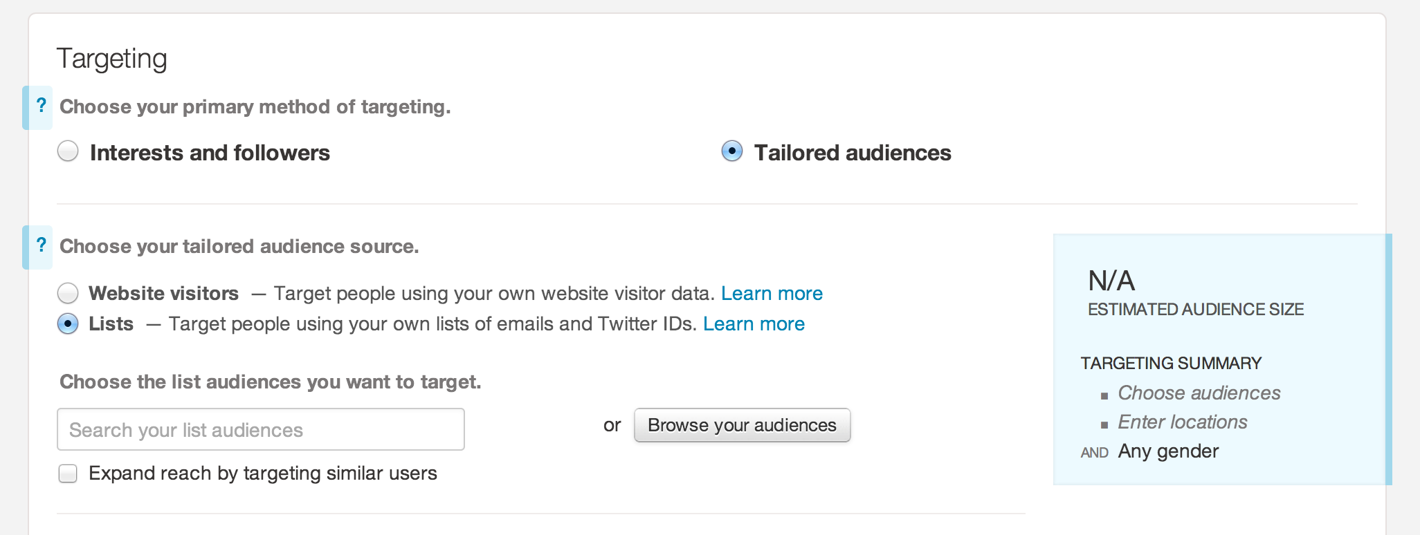 Tailored Audience
