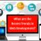 Recent Trends in Web Development