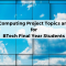 Cloud Computing Project Topics and Ideas for BTech Final Year Student