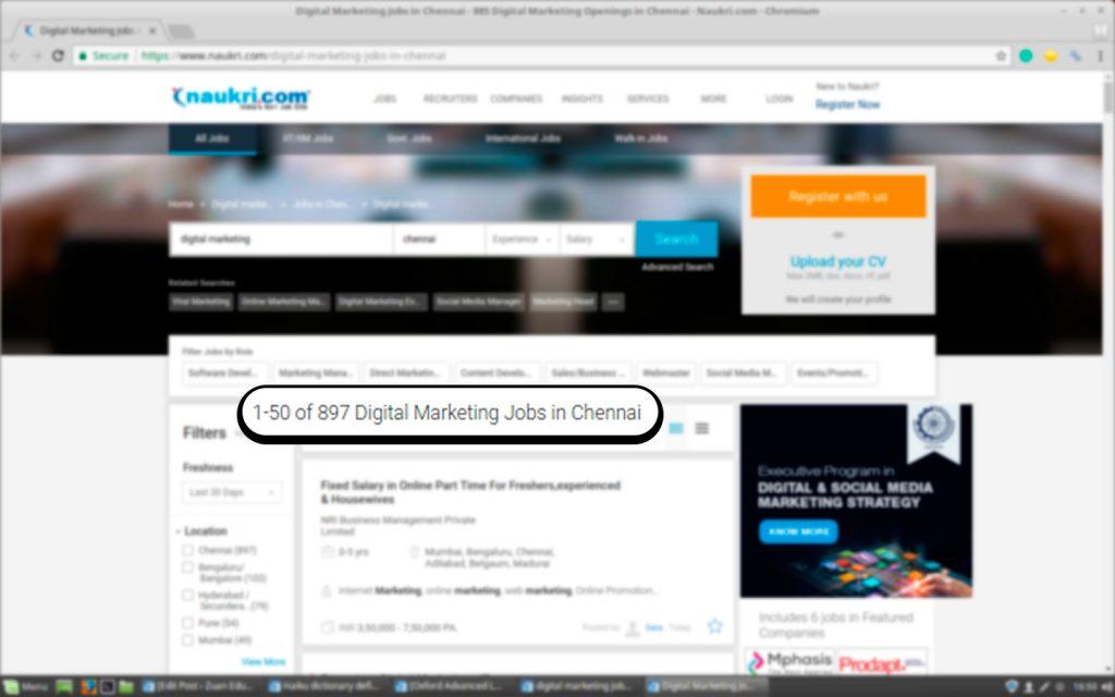 Job Vacancies for Digital Marketing on Naukri