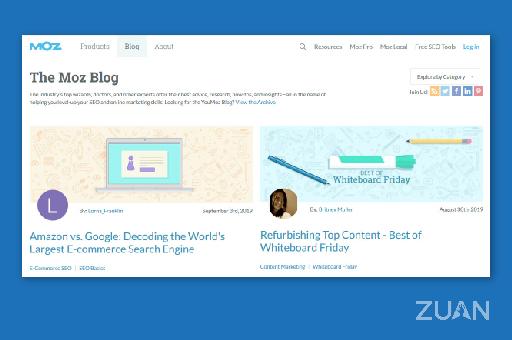 Moz digital marketing blog site