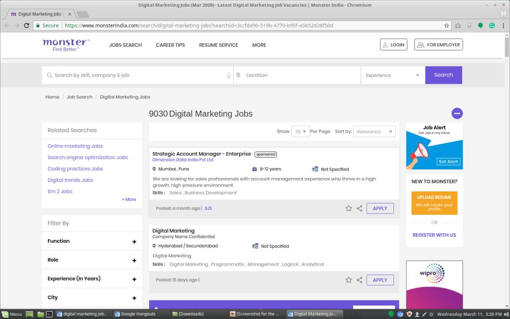 Digital Marketing Jobs in Monstor