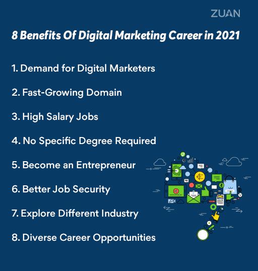 benefits of a digital marketing career